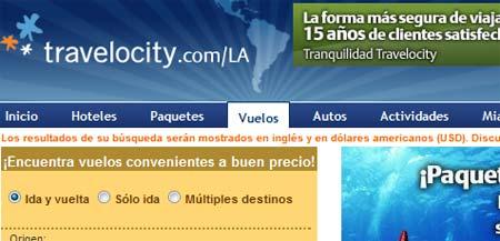 travelocity en español