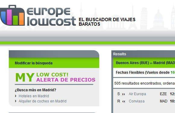 EuropeLowCost los mejores vuelos economicos a europa