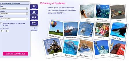vuelos y actividades