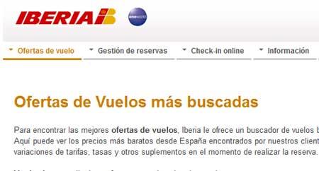 viajes iberia online